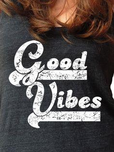 Yoga Tank Top Good Vibes Funny Eco Tank Yoga Shirt by MaxenRebel