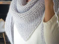 Châle au tricot bien expliqué ainsi que technique de blocage