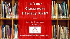 """21stCenturyTutoring on Instagram: """"EVERY classroom needs to be literacy-rich, no matter the grade or content. In Part 3 of my series, I discuss classroom libraries...check it…"""" Classroom Libraries, I Series, Literacy, Environment, Content, Check, Instagram"""