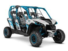 New 2016 Can-Am Maverick MAX X ds TURBO 1000R ATVs For Sale in Florida. 2016 Can-Am Maverick MAX X ds TURBO 1000R, 2016 CAN-AM® MAVERICK MAX X DS TURBO 1000R HYPER SILVER & OCTANE BLUE131-HP OF PURE POWERRace-Proven Turbo engine, fully adjustable Fox Shocks and premium cockpit; everything you need to stay ahead of the dust.Features may include:131-HP ROTAX 1000R TURBO V-TWIN ENGINETURBOCHARGED POWERBoosting the performance of the proven Rotax 1000R engine with the industry's first…