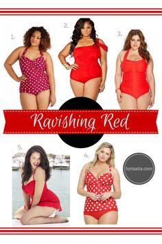 e868f19e16b02 Ravishing Red plus size swimsuits Plus Size Swimsuits