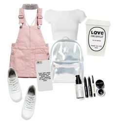"""@shookjk"" by dvnrhmwt ❤ liked on Polyvore featuring Helmut Lang, H&M, Accessorize and Bobbi Brown Cosmetics"