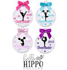 Christmas Ornament for Cheerleader/Cheerleader Ornament/ Personalized Cheerleader Gift/Gift for Cheerleader/Cheer Team Gift/Cheer Coach Gift