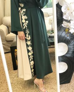 The word conjures up images of gorge… Arab Fashion, Muslim Fashion, Modest Fashion, Fashion Dresses, Hijab Dress Party, Hijab Outfit, Mode Abaya, Abaya Designs, Muslim Women
