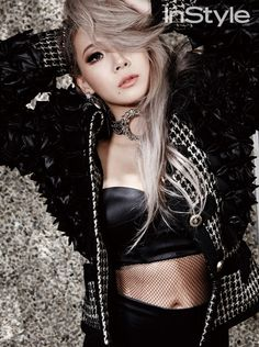 member CL is featured in a sexy pictorial for the fashion publication InStyle Magazine. The September issue featured the charismatic leader, wearing monochromatic black-and-white attire, putting the emphasis on her glamorous figure. Christina Aguilera, Aaliyah, K Pop, South Korean Girls, Korean Girl Groups, Jennifer Lopez, Rihanna, Cl Rapper, Chaelin Lee