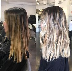 Avant-Apres : Blonde Hairstyles Highlight Color