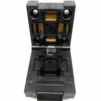 2 pcs / lot QFP64 TQFP64 LQFP64 Clamshell Structure Burn in Socket Pitch 0.5mm FPQ-64-0.5-06 Test Flash Programming Adapter