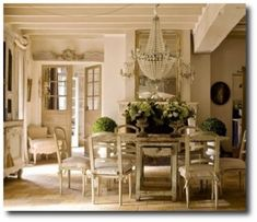 French Decorating Featured In Campagne Decoration Magazine Dining Rooms Country Chairs