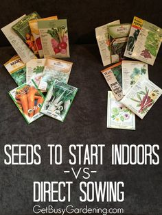 This is a great list of seeds you can start outside in the garden, and seeds that are better to start indoors. I'm going to keep this list for when it's time to start my seeds this year. It's going to make things so much easier!