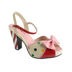 Raspberry Heels: Lola Ramona   Angie Sandal Candycane [Multicolor]