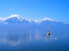 * Lago Léman * # Montreux, França.