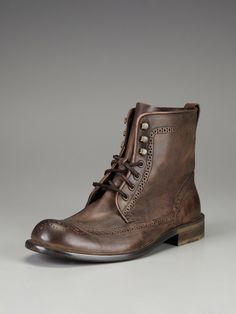 John Varvatos Star USA Footwear Leather Wingtip Boots