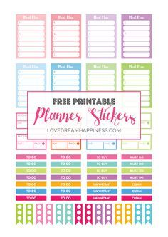 Free printable functional planner stickers for your Erin Condren Planner, Kikki…