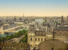 Paris Panorama - Vintage Photo