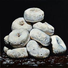 "Daily Paintworks - ""Powdered Sugar Donut Shrine"" - Original Fine Art for Sale - © Kim Testone"