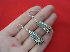 Buddhist Supplies Blessing Turquoise Earrings