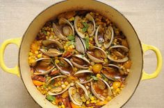 One-pot recipe you will surely love!  Corn, Bacon, and Clam Stew  #recipe