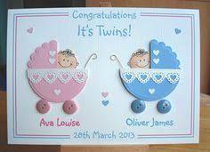 Bildergebnis für handmade twins congrats cards