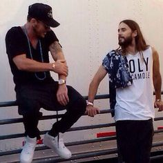 Jared and Shannon Leto - Look at the love in his eyes