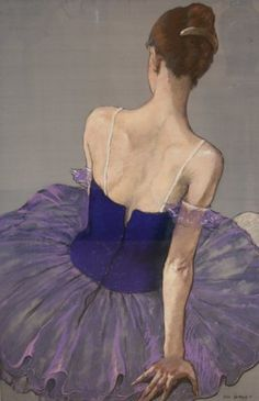 Katya Gridneva, Ballerina in Purple (Hungerford Gallery) - Tanzen Ballerina Kunst, Ballerina Painting, Ballerina Project, Ballet Art, Ballet Dancers, Ballerinas, Dancing Drawings, Pastel Art, Dance Art
