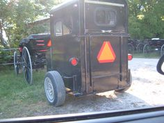 Amish buggy pulling a mini horse trailer.  Photo by Diva In The Dell
