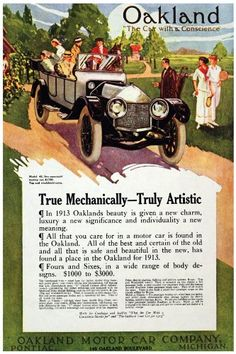 """11""""x 14"""" Poster. Oakland the car with conscience, Automobile Poster. Decor with Unusual images. Great wall Decoration. Perfect for your home or office. - http://www.carhits.com/11x-14-poster-oakland-the-car-with-conscience-automobile-poster-decor-with-unusual-images-great-wall-decoration-perfect-for-your-home-or-office/ - CarHits"""