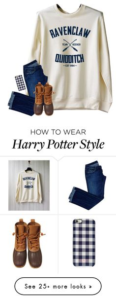 """watching harry potter right now"" by preppy-ginger-girl on Polyvore featuring Dsquared2, L.L.Bean and Isaac Mizrahi"
