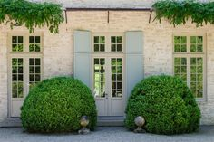boxwood and stone home