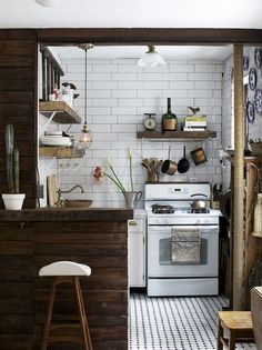 The kitchen of Anthony D'Argenzio's small space makeover