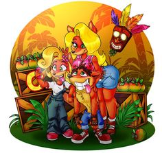 I got Crash Bandicoot N Sane Trilogy some days ago, so I drew something to it. ;] I died so many times in this game, it's been years. Omg, haha! X'D art © Shalone Howard/me Characters © N...