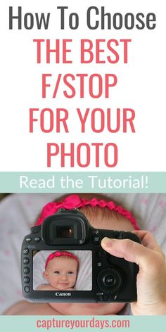 This tutorial is so helpful when trying to figure out what to use. This is one of those photography lessons I wish I'd learned sooner. Click the link to learn a simple trick to get both eyes in without changing your camera settings. Dslr Photography Tips, Photography Tips For Beginners, Free Photography, Photography Lessons, Photography Tutorials, Children Photography, Photography Business, Aperture Settings, Camera Settings