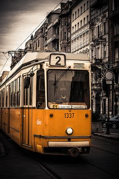Budapest Tram, while I was a teenager I traveled around the city using public transport mainly the trams. Cantilever Bridge, Budapest Hungary, Public Transport, Travel Around, Wonders Of The World, Street Photography, Motors, Transportation, Beautiful Places