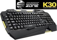 Sharkoon SHARK ZONE K30 Modern keyboard - Wirendy Retail Box, Keyboard, Shark, Gaming, Modern, Videogames, Games, Sharks