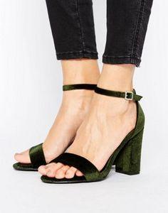 New Look Velvet Barely There Heeled Sandal