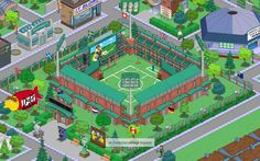 stadio Springfield Tapped Out, The Simpsons Game, The Duff, Cartoons, Design Ideas, Layout, Games, The Simpsons, Video Games