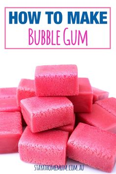 How to Make Chewing Gum. You can make all kinds of candy at home, so why not try your hand at chewing gum? People have been chewing gum for medicinal purposes and to freshen their mouths for at least years. Read on to learn how to. Chewing Gum, How To Make Bubbles, Salsa Dulce, Homemade Bubbles, Homemade Candies, Candy Making, How To Make Homemade, Candy Recipes, Shortbread