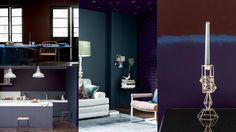 piece violet bleu gris peinture Dulux Valentine