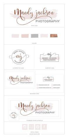 Rose Gold Branding Kit Logo Package, Premade Rose Logo Watercolor Logo Design Branding, Elegant Wedding Logo Design and Business cards, Branding Kit, Business Branding, Brand Identity Design, Branding Design, Wine Logo, Wedding Logo Design, Watercolor Logo, Photography Branding, Logo Design Inspiration