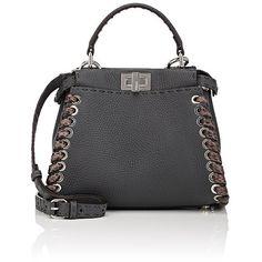 Fendi Women's Peekaboo Selleria Mini-Satchel ($4,250) ❤ liked on Polyvore featuring bags, handbags, grey, grey satchel, fendi, mini satchel handbags, fendi purse and grey purse