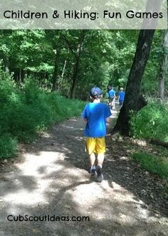 Play these fun hiking games while completing the Wolf Cub Scout required adventure, Paws on the Path.