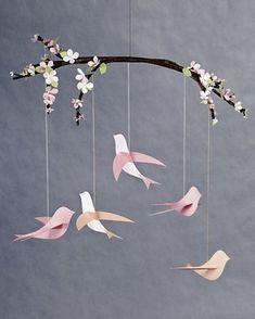 DIY nursery decorating ideas spring theme decor birds tree branch