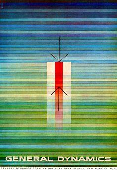 General Dynamics Poster by Erik Nitsche. (1956)