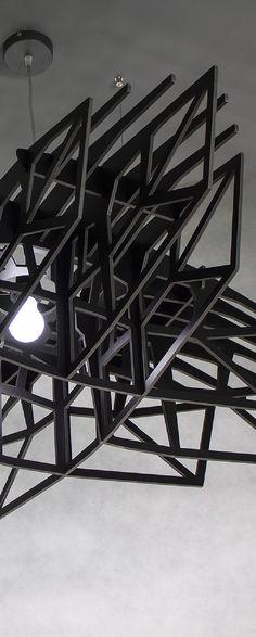 Lampa CZARNA GWIAZDA - duża nowoczesna lampa wisząca  1.670,00 zł