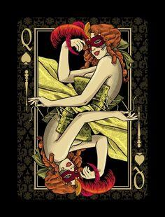 Venexiana Dark playing cards by Half Moon Playing Cards » Coins & co. — Kickstarter