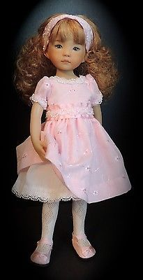 Pink-Confection-Dress-Shoes-Headband-fit-13-Little-Darling-by-Dianna-Effner. Sold 3/11/14 with best offer accepted. Asking price was $62.75.