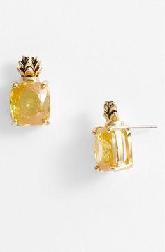 Pineapple stud earrings.