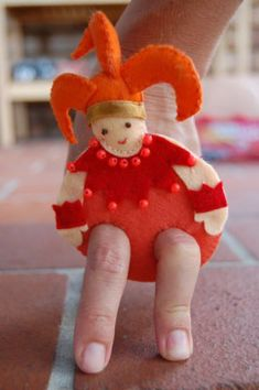 How To Make Felt Finger Puppets For Kids: Jester pattern - Parenting Fun Every Day