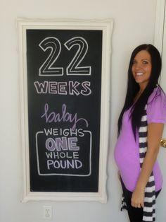 Weekly photos of pregnancy @22 weeks