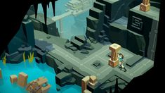 Announced at the conference earlier this year, Square Enix's new Lara Croft GO mobile game is available today for the first time across iOS, Android and Windows Phone platforms. Lara Croft, Go Game, Game Art, Game Concept, Concept Art, Mobiles, Low Poly Games, Gaming, Game Background