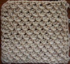 Fancy Stitch (smocking) | Victorian Tunisian crochet stitch pattern.